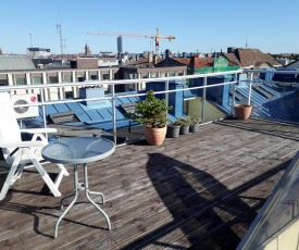 Bright penthouse in the center with a roof terrace